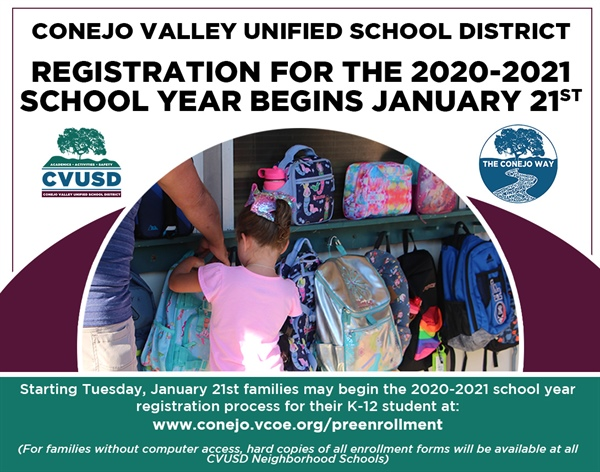 CVUSD Neighborhood School Registration Begins January 21st