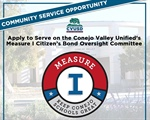 Now Accepting Applications: Independent Citizens' Bond Oversight Committee - At-Large Community Member