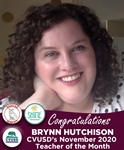 Congratulations Brynn Hutchison - Our November 2020 Teacher of the Month!
