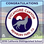 Sycamore Canyon School Honored as a 2018 California Distinguished School