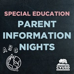 Special Education Department is Hosting Parent Information Nights