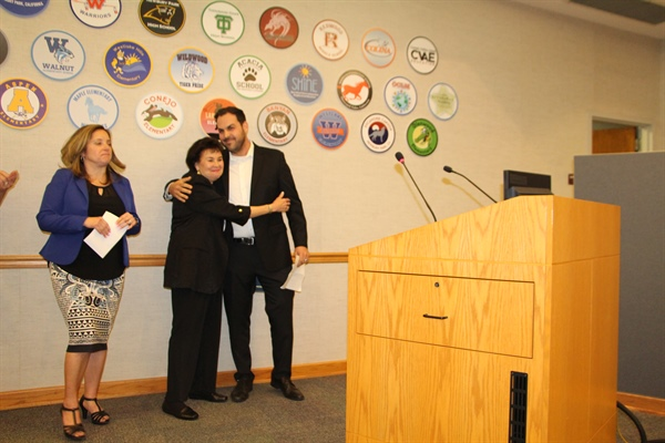 "Teacher Linda Gomberg Receives CVUSD's ""Teacher of the Year 2019"" Award"