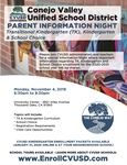 You're Invited - Transitional Kindergarten, Kindergarten & School Choice - Parent Information Night: November 4th