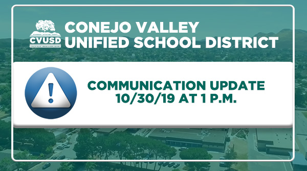 Communication Update - 1pm on October 30th