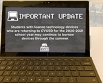 Important Information for Families with Loaned Technology Devices from CVUSD