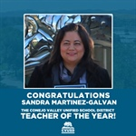 Congratulations to Sandra Martinez-Galvan the 2019-2020 Teacher of the Year for the Conejo Valley Unified School District!