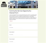Community Service Opportunity - Interest Form