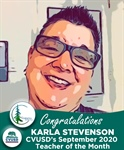 Congratulations Karla Stevenson of Sequoia Middle – CVUSD's September Teacher of the Month!