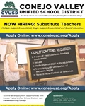 Now Hiring: Substitute Teachers