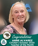 Congratulations Anne Alvarez of NPHS - Our October 2020 Teacher of the Month