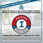 Community Service Opportunity: Apply to Serve on the CVUSD Measure I Citizens Bond Oversight Committee