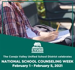 It's National School Counseling Week: February 1 - February 5