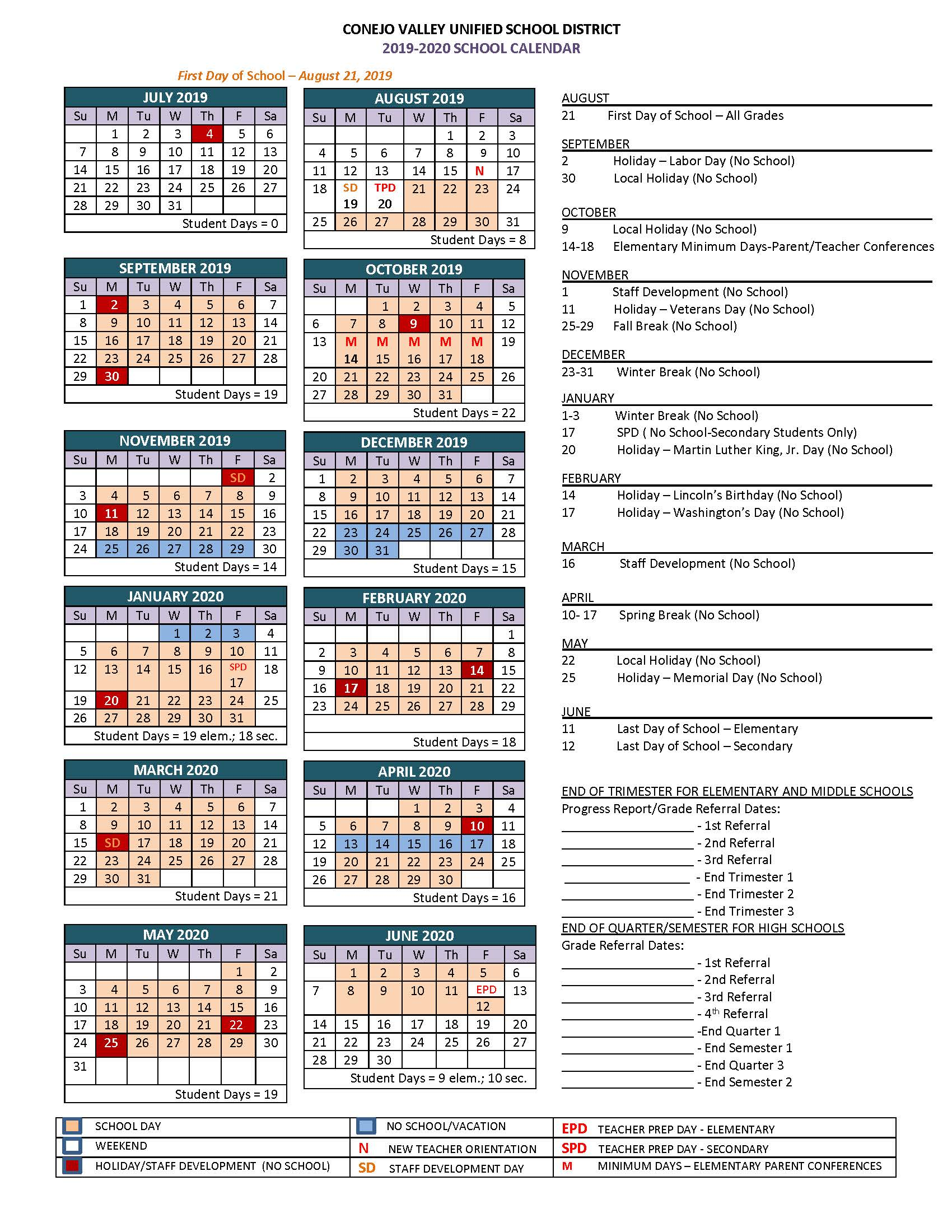 to view the 2019 2020 cvusd school calendar as a pdf click here